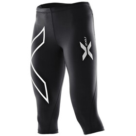2XU W's Compression 3/4 Tights Black/Black (Silver logo)